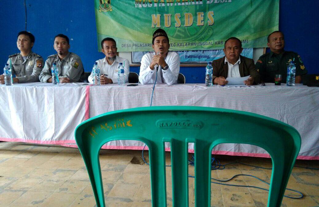 Desa Palasarigirang: Musyawarah Desa untuk Penentuan Prioritas Pembangunan 2018