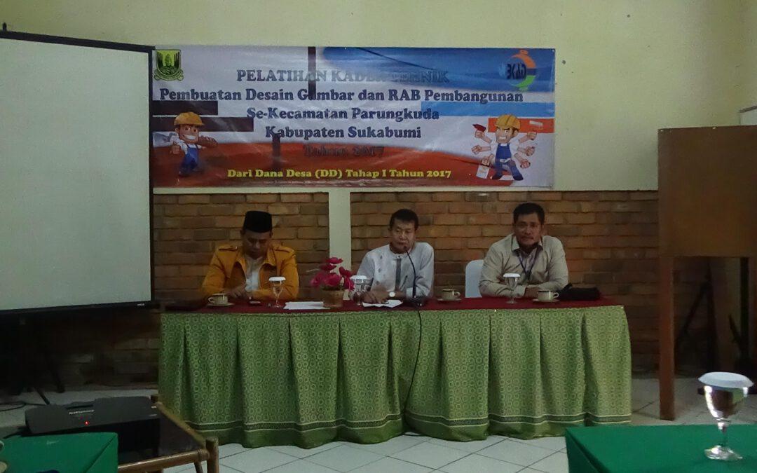 BKAD Parungkuda Gelar Pelatihan Kader Teknik Untuk Tingkatkan Kualitas Perencanaan Desa