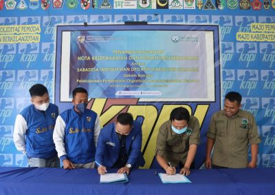 Sabadesa Gandeng KNPI Sukabumi Untuk Pengembangan Organisasi Kemasayarakatan  Pemuda di Sukabumi