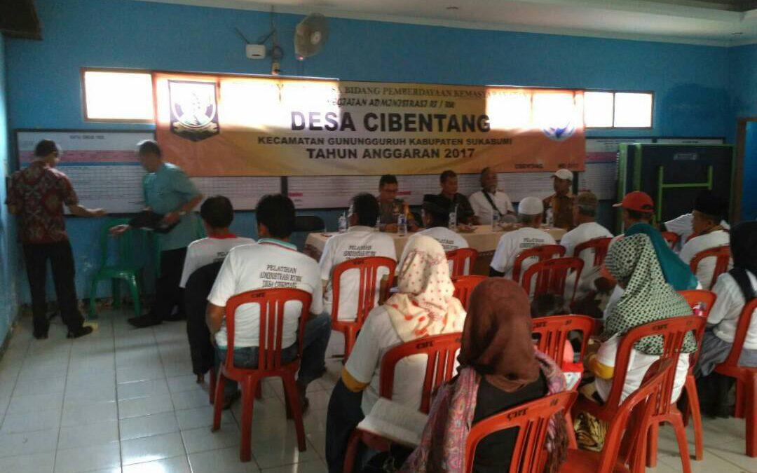 Desa Cibentang : Pengelolaan Data Desa Harus Berbasis RT / RW