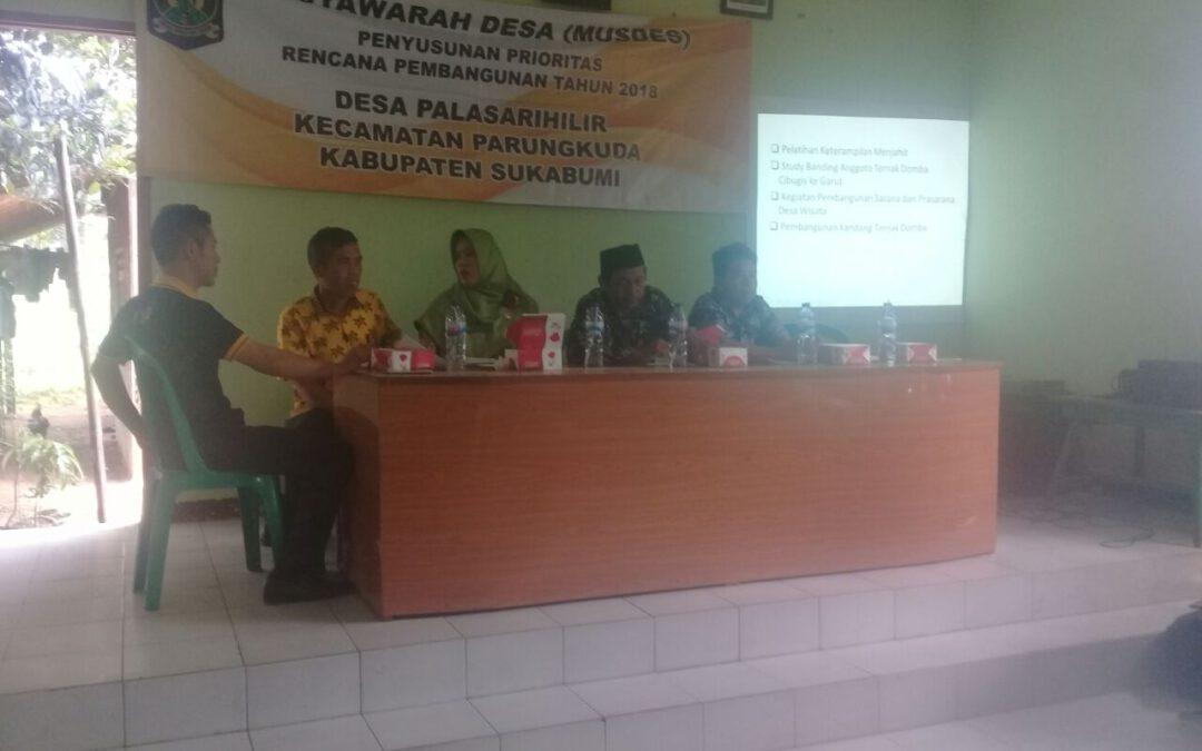 Desa Palasarihilir; Partisipasi masyarakat tentukan perencanaan pembangunan desa
