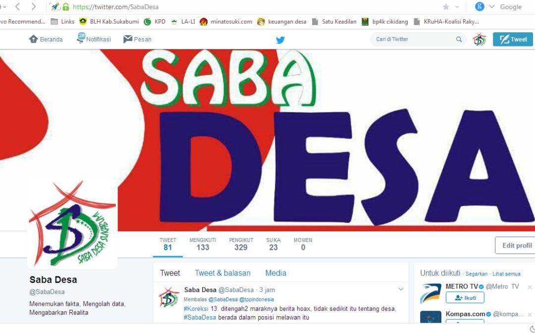Tweet Bersambung ; Mengapa Saba Desa ?