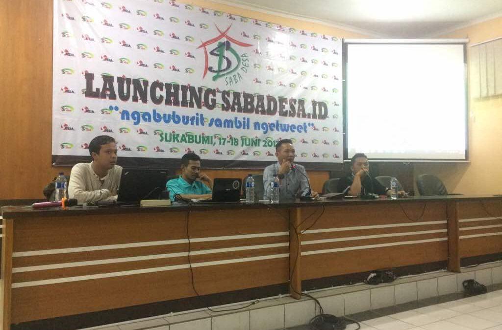Launching Sabadesa.id; Pendamping Desa Sukabumi Prakarsai Media Informasi Desa