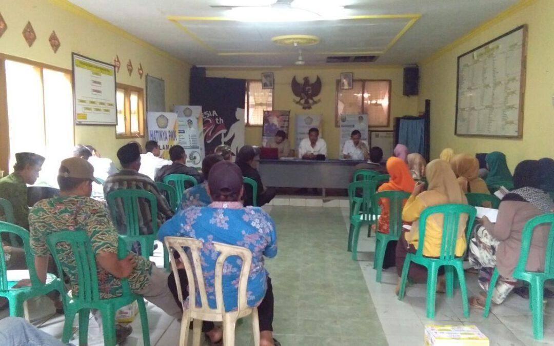 Desa Bojonglongok : Berbagi Hati dan Pemikiran dalam Musrenbangdes 2017